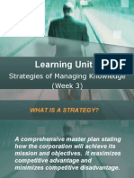 LU5 - Strategies of Managing Knowledge