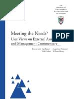 Fraser Users Report April 2010