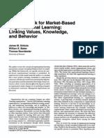 A Framework for Market-Based Organizational Learning