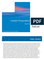Satcon Investor Presentation_May 2011