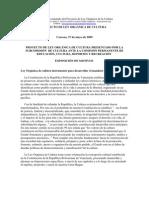 Proyecto de Ley Orgánica de la Cultura 2009