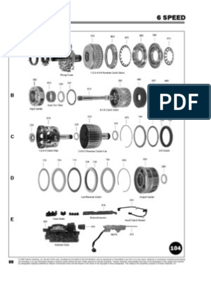 6L80E Manual | Turbine | Gear