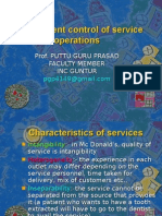 control of service operations