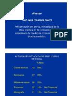 Necesidad de ética en la formación médica - Francisco Rivera