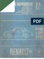 Renault Dauphine R1090, R1091, R1093 Workshop Manual