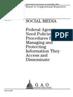 GAO Social Media Federal Agencies
