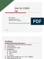 Introduction to CUDA Computing