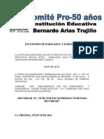 OFICIOS COMITE PRO-50 AÑOS