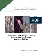 Lineam Metodolog Para El Plan y Ejecucion de Linea de Base