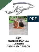 LA Spa Owner Manual 2005 Domestic New Final 366C