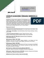 Curriculum Scarlet Vergara