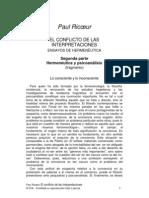 Psicoanálisis y Hermeneutica - Ricoeur