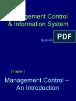 INTRODUCTION TO MANAGEMENT CONTROL BY PUTTU GURU PRASAD