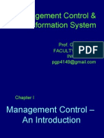 MANGEMENT CONTROL SYSTEMS