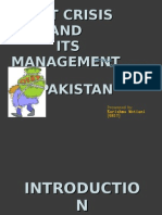 SEP - Debt Crsis and Its Management in Pakistan