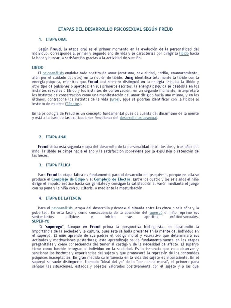 Etapas de desarrollo psicosexual de sigmund freud pdf
