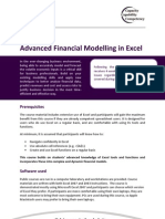 Advanced Financial Modelling in Excel Course Outline