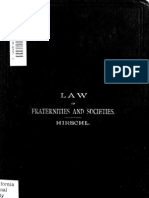 Hirschl - Law of Fraternitites and Societies (1883) (88 Pgs)