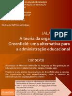 A teoria da organização de Greenfield