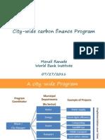 City Wide Carbon Finance Program_Monali Ranade