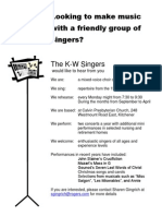 Recruiting Poster K-W Singers