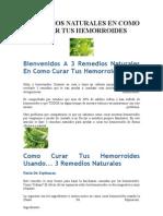 3 Remedios Naturales en Como Curar Tus Hemorroides