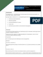 Módulo 1.1 - Componentes básicos de un programa