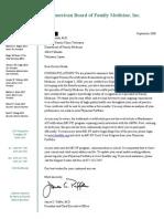 ABFM Letter