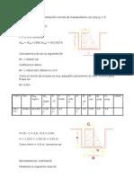 Cálculo para una cimentación corrida de mampostería