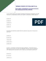 TESTES 7ª SÉRIE ENSINO FUNDAMENTAL