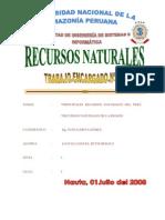 Principales Recursos Naturales Del Peru y La Region