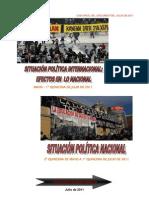 Análisis Situación Política Internacional-Nacional Chile, Mayo-Julio 2011