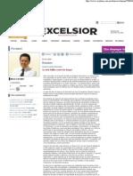 Excelsior, Jorge Fernandez Menendez, La Verdadera Razon de La Guerra Contra El Narco