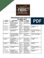 Programacion Oficial Feria de Las Flores 2011