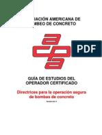 Guia de Estudios Del Operador Certificado - Acpa Asociacion Americana de Bombeo de Concreto