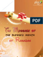 The Message of the Blessed Month of Ramadan