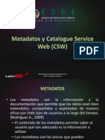 Metadatos y Catalogue Service Web (CSW)