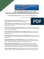 List of (Almost) 40 Anti-Environmental Proposals in GOP Debt Plan