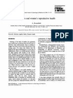 Abortion and women's reproductive health