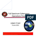 United States marine corps - Full Spectrum Cyberspace Operations Panel - IT day. Released July 29, 2011