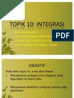 TOPIK 10 INTEGRASI
