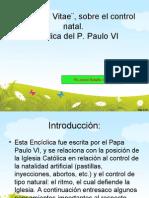 Humanae Vitae. El Control natal. Jaime Botello Valle
