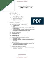 2011 Syllabi Mercantile Law