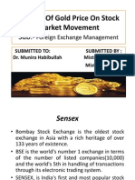 impact of gols price movement on stock market