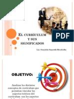 El Curriculum y Sus Significados