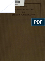 Masonic Membership Record and Library Classification (1910)