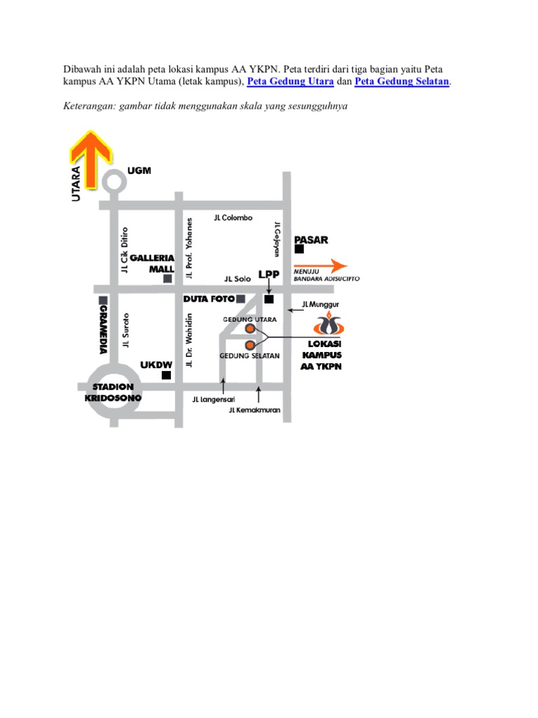 Peta lokasi kampus aa ykpn ccuart Image collections