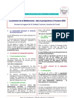 La pollution de la Méditerranée Synthèse du rapport de M. Roland COURTEAU