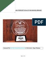 Brand Perception of Raymond Brand Project Report