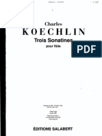 (SCORE) Koechlin - 3 Sonatinas